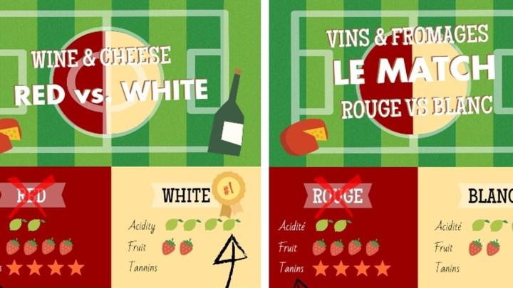 Infographics: Pairing Cheese and Wine, Red vs. White