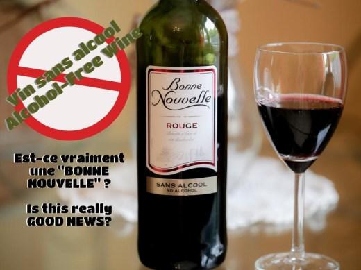 bouteille vin sans alcool