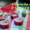 photo d'un gaspacho de pastèque - watermelon gazpacho photo