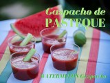 photo d'un gaspacho de pastèque - watermelon gazpacho photo