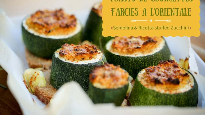 Oriental style stuffed zucchini Toasts