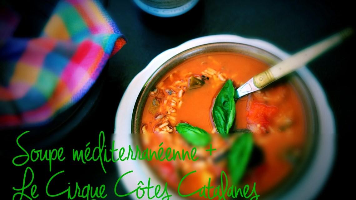 1 recette 1 vin : Soupe méditerranéenne + Le Cirque Côtes Catalanes