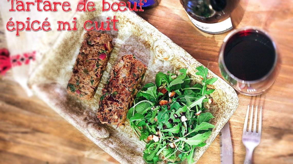 (Français) Steak tartare mi-cuit épicé