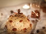 Dôme de Noël rhum raisin et marrons