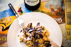 assiette de risotto aux tellines