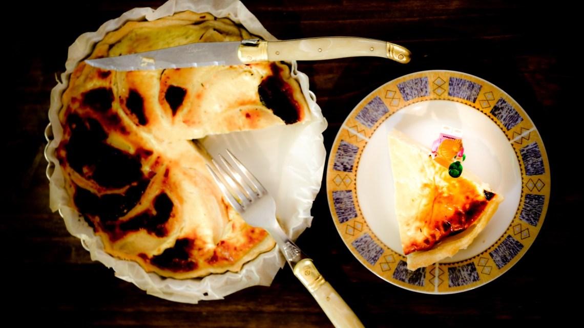 Tarte aux coings et fromage de chèvre