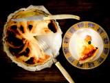 portion de tarte au coing et au fromage de chèvre