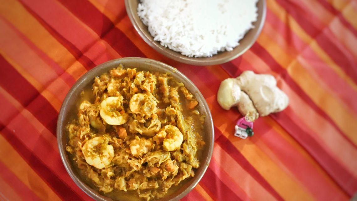 Curry de crevettes aux poireaux et carottes 🥕🍤😋