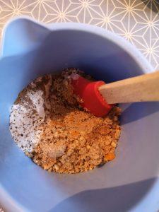 préparation de boulettes de noël aux marrons et butternut