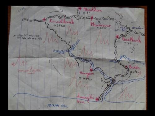 Carte trek Muang Ngoi