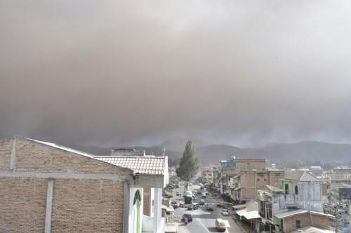 Berastagi eruption Gunung Sinabung 1