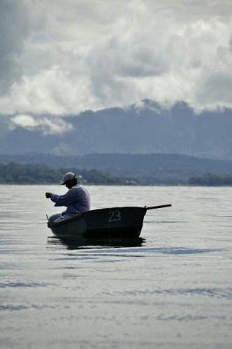 Pecheur Lac de Yojoa