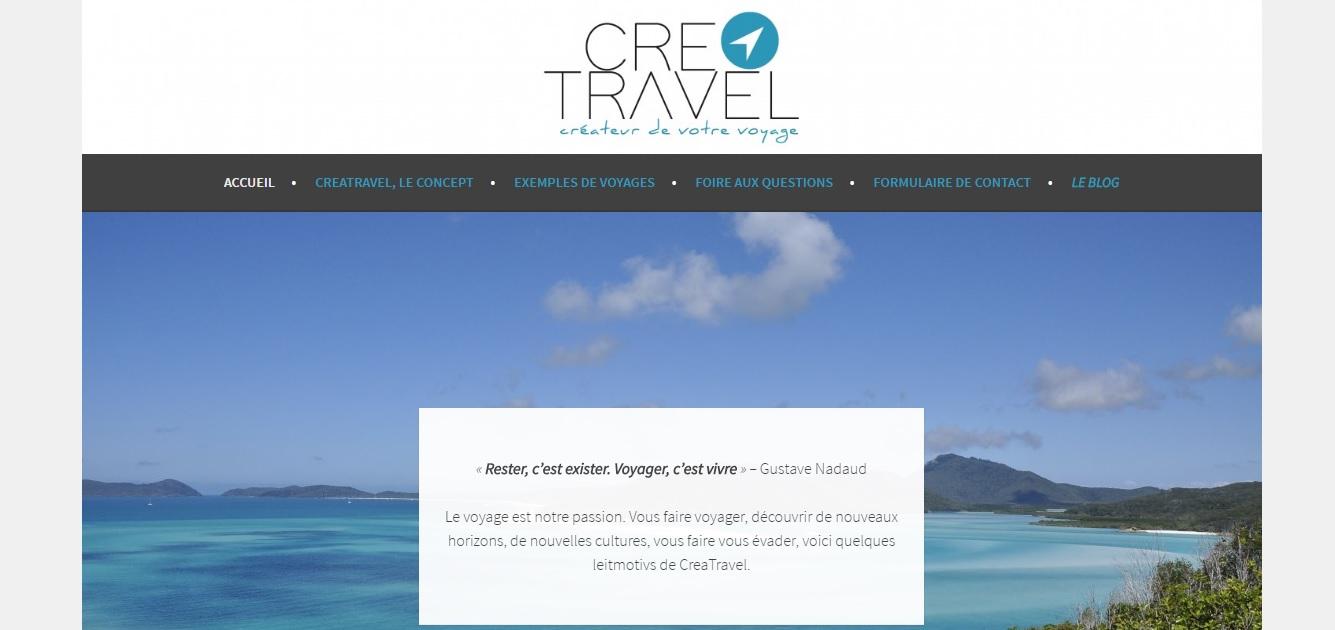 CreaTravel, un service de voyage sur-mesure