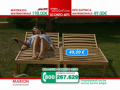Offerta materasso in lattice MARION e rete a doghe in