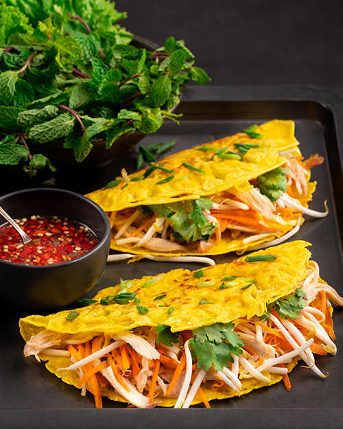 Crispy Vietnamese Pancakes (Banh Xeo) - Marion's Kitchen