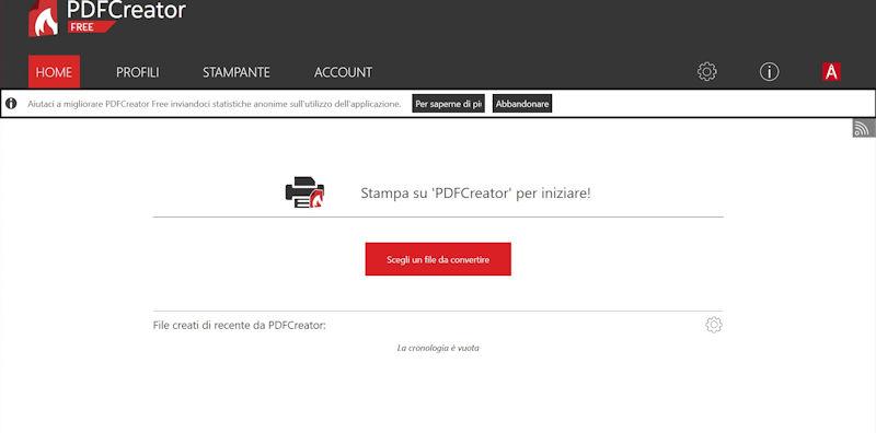 Trasformare word in PDF con PDFCreator