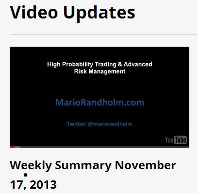 Weekly Summary November 17, 2013