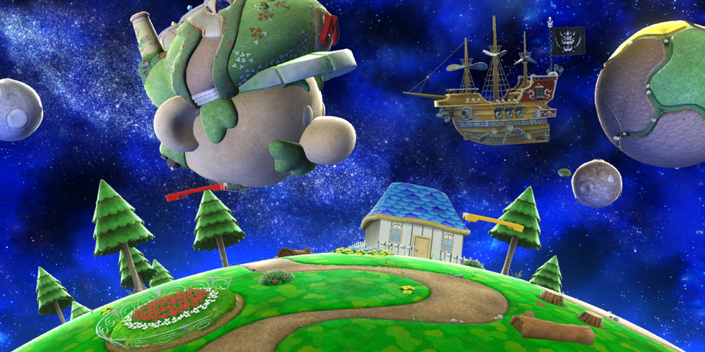 Fall Trees Background Wallpaper Mario Galaxy Stage Super Mario Wiki The Mario