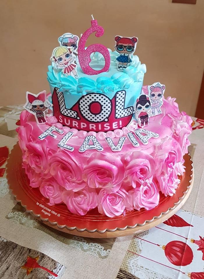 torta di panna lol surprise