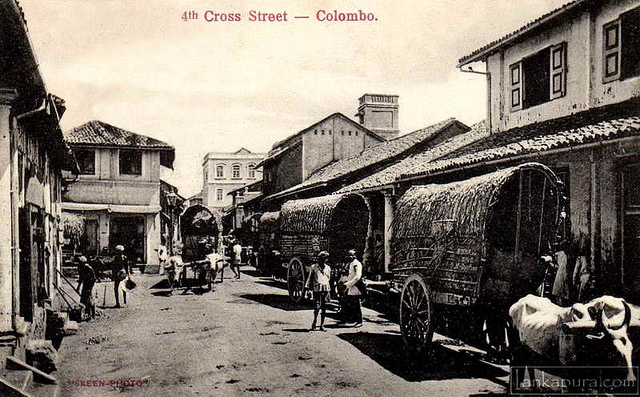 4th Cross Street Pettah, Colombo 1890-1910 provided by Lankapura via Flickr