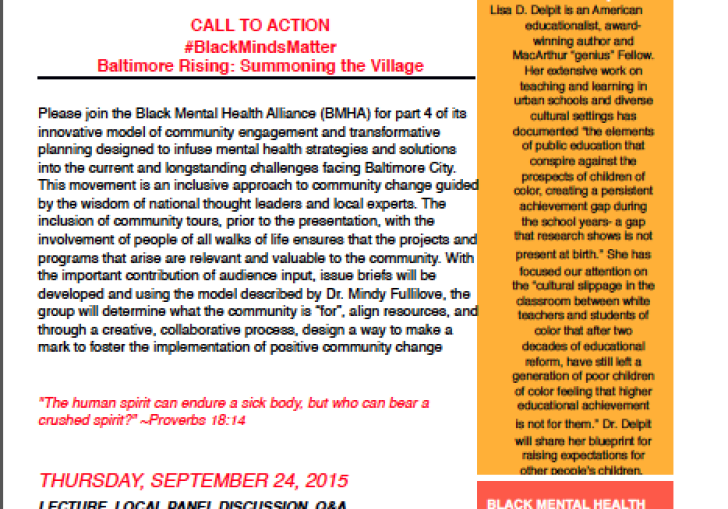 Black Mental Health Alliance