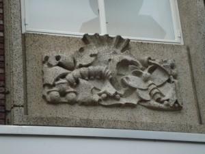 Nijmegen - Burchtstraat (reliëf 1)