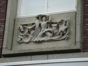 Nijmegen - Burchtstraat (reliëf 2)
