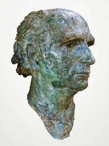Busteportret van Jac Maris, synthetische steen, h. 485 cm, ges. E.Tervoort