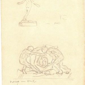 A-013 – 1926 Ontwerp voor kerk potlood 286×166 sd
