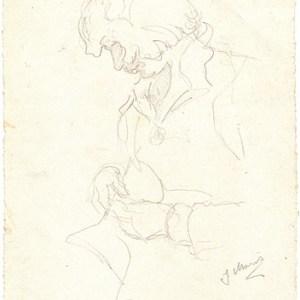 A-092 – Vrouw bezig potlood 224×130
