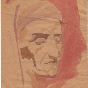 B-003 – 1931 Dante in zelfportret aqua en potl 271×180 sd 1931