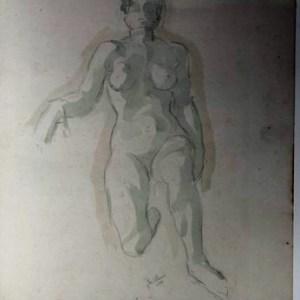 C-083 – Zittend vrouwelijk naakt 4