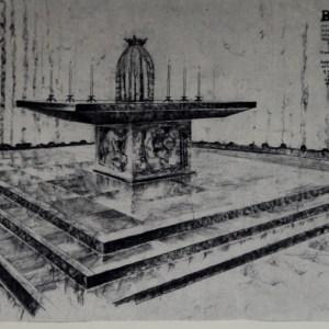 D-052 – 1957 Maria Visitatie kerk Aalst altaar (1)