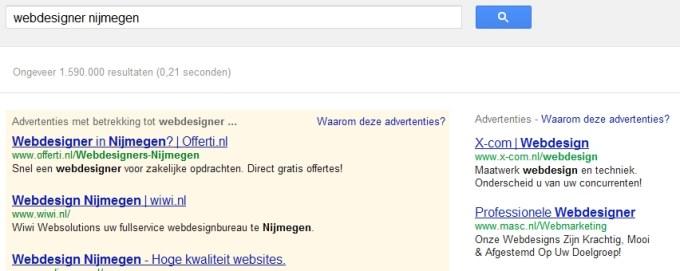 adwords betaalde advertenties google