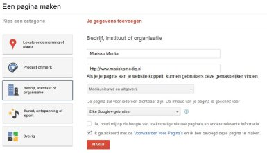 Google Plus Pagina aanmaken