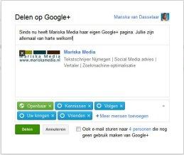 Google Plus pagina