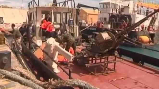 boats in Libyan port