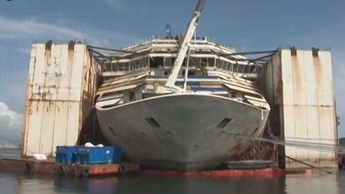 Costa Concordia Ready For Last Journey