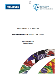 Maritime security current challenges