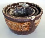 brown-glazed basin