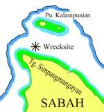 Wreck location