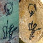 Same marks on bronze & ceramics