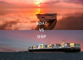 Boat vs Ship
