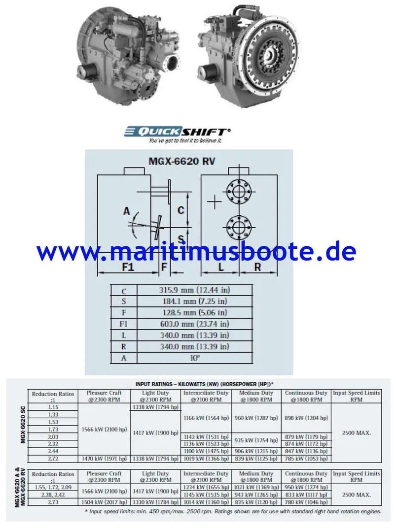Twin Disc Mgx 6620rv Service Manual And