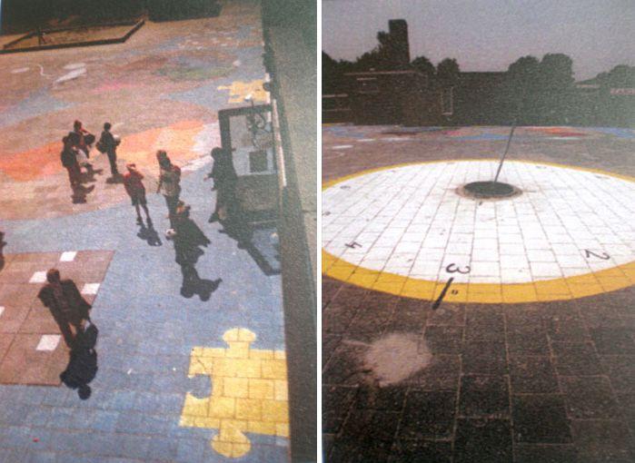 Het plein en de Zonnewijzer