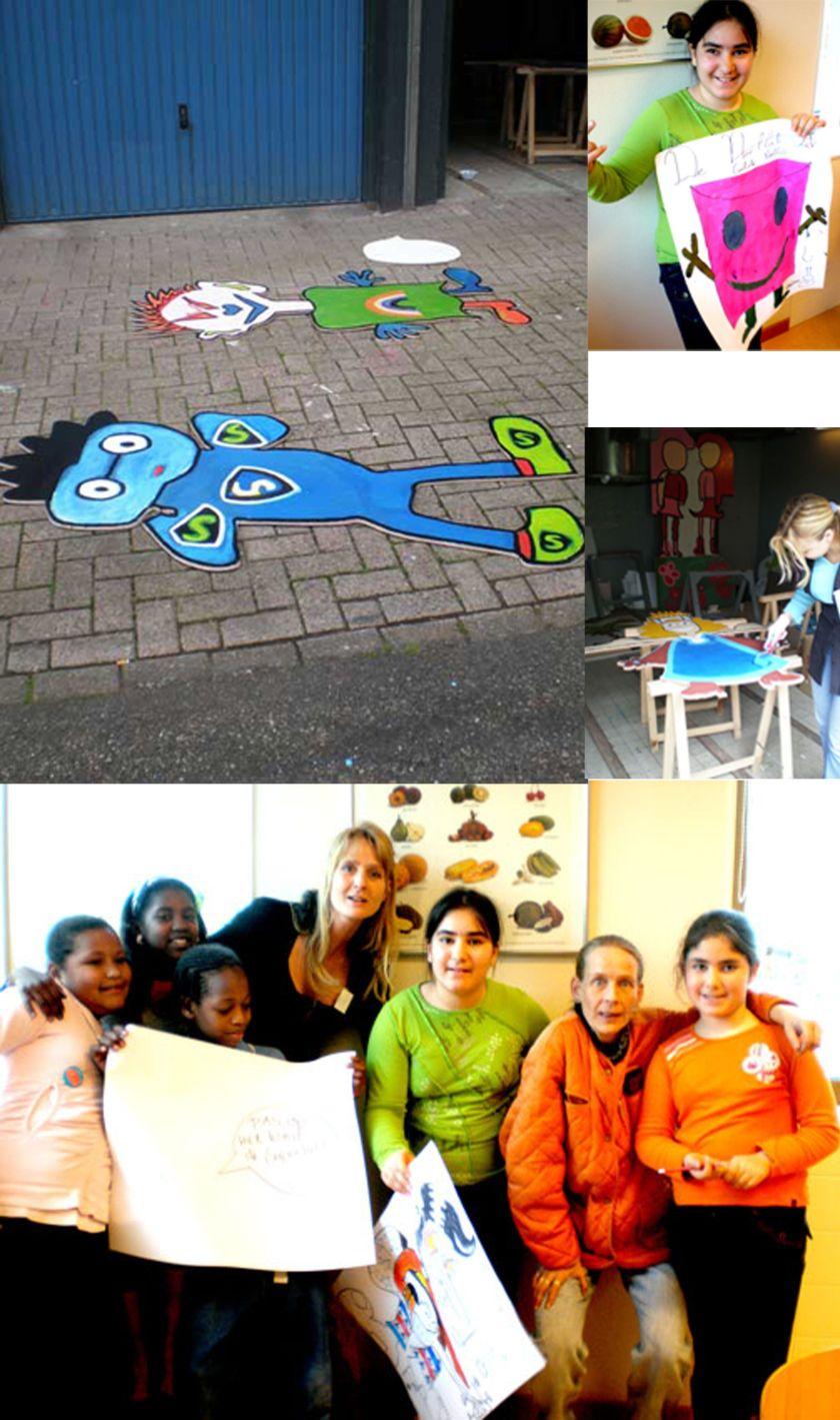 Het project Wijkhelden valt ook onder de 'BontePalestrinakindercartoonclub' van Travers , wat eigenlijk een verzamelnaam is voor alle 'kunst' projecten die buiten het Wijkcentrum plaatsvinden. De wijkhelden zijn de eerste kunstuitingen die onder 'Samengaan voor de Palestrinalaan' vallen. Een positive impuls voor de kinderen en de wijk. Concept en uitvoering