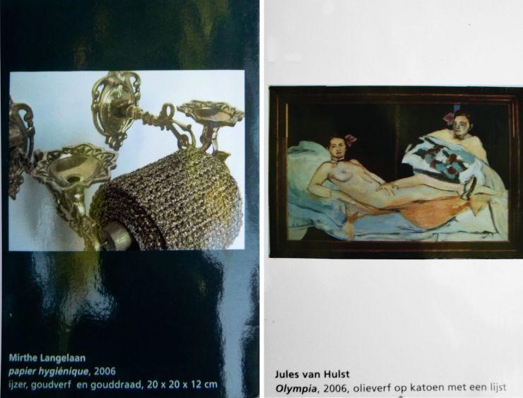 Deelnemende kunstenaars (foto van de publicatie- leporello)