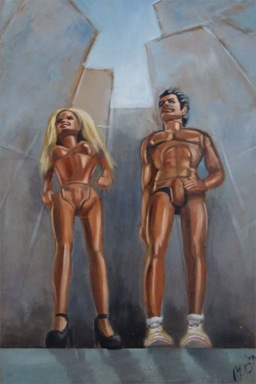 United-States-Of-Mind - Acryl op canvas - Marit Otto- Kunst