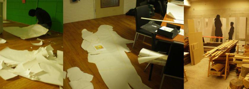 Voorbereidende werkzaamheden voor de silhouetten