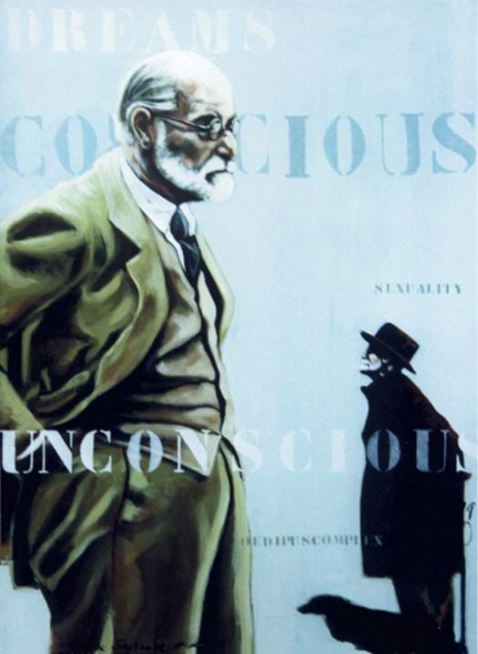 Ego-&-Super-Ego-acryl- op-canvas-Marit-Otto-kunst